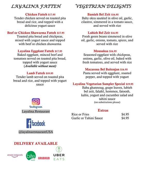 Delivery Layalina Menu 5